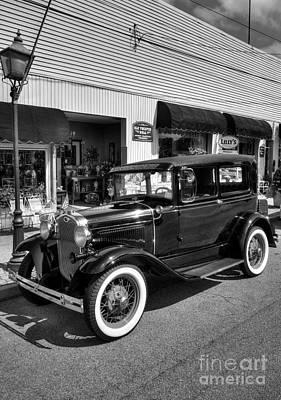 Ford Tudor Photograph - An American Classic Bw by Mel Steinhauer