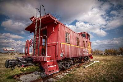 Caboose Digital Art - An American Icon by Linda Unger