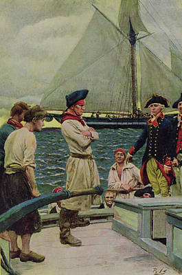 An American Privateer Taking A British Prize, Illustration From Pennsylvanias Defiance Print by Howard Pyle
