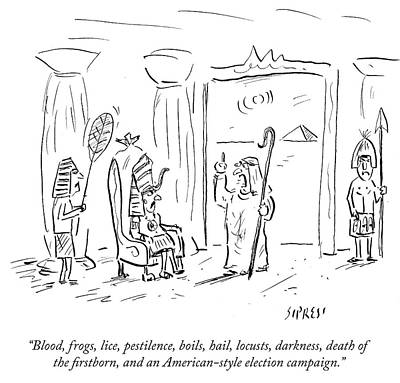 Frogs Drawing - An American Style Election Campaign by David Sipress