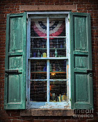Photograph - An American Window by Lee Dos Santos