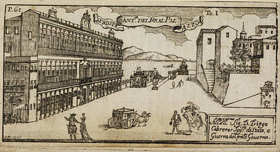 Etc. Photograph - An Ancient Illustration Of Naples by British Library