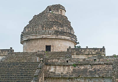 Photograph - An Ancient Observatory  In Chichen Itza Mayan City Mexico  by Marek Poplawski