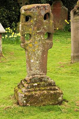 Grave Yard Photograph - An Ancient Stone Cross by Ashley Cooper
