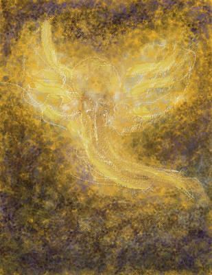 Spiritual Presence Painting - An Angel I Know by Anne Cameron Cutri