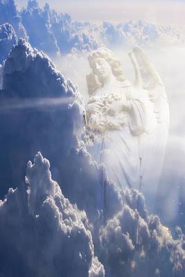 An Angel In The Clouds Art Print by Jim Zuckerman