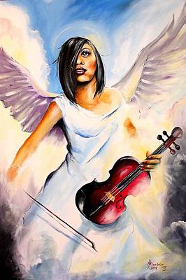 Painting - An Angel Performs by Henry Blackmon
