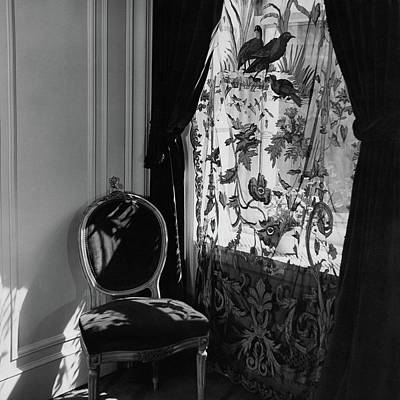 Photograph - An Antique Chair By A Window by Cecil Beaton