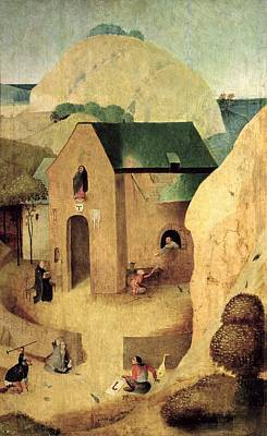 An Antonian Priory Oil On Panel Reverse Of 28165 Art Print by Hieronymus Bosch