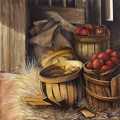 Cider Painting - An Apple A Day by Gary Yappel