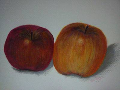 Painting - An Apple A Day by Kat Poon