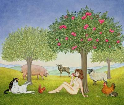 An Apple A Day. Triptych Part Three Art Print by Ditz