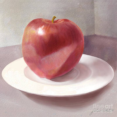 An Apple For Sue Art Print by Joan A Hamilton