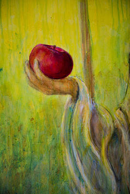 Apple Painting - An Apple For U by Nik Helbig