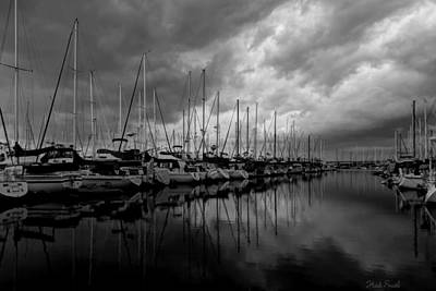 Photograph - An Approaching Storm - Black And White by Heidi Smith