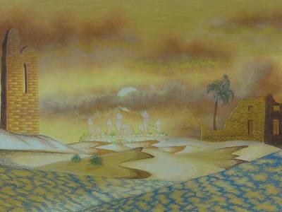 Ruins Mixed Media - An Arab Dominion by Gabriel Cajina