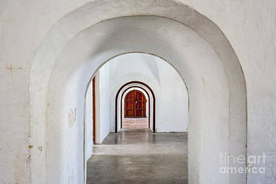 Photograph - An Arched Hallway Inside Castillo San Cristobal Fort In Puerto Rico by Bryan Mullennix