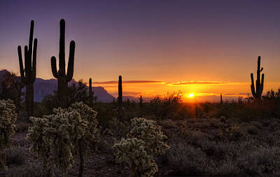 The Superstitions Photograph - An Arizona Winter Sunrise by Saija  Lehtonen
