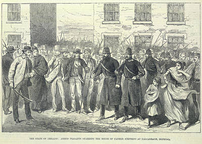 Policemen Photograph - An Armed Crowd by British Library