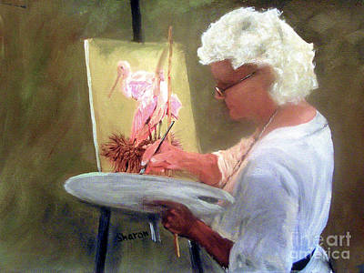 An Artist At Work Art Print by Sharon Burger
