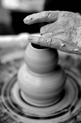 Pottery Photograph - An Artist's Hands by Megan Luschen