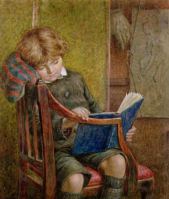 Homework Painting - An Artists Son by Charles James Adams