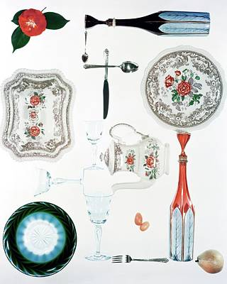 Tableware Photograph - An Assortment Of Crockery by Herbert Matter