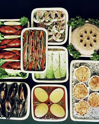 Cook Book Photograph - An Assortment Of Food In Containers by John Stewart