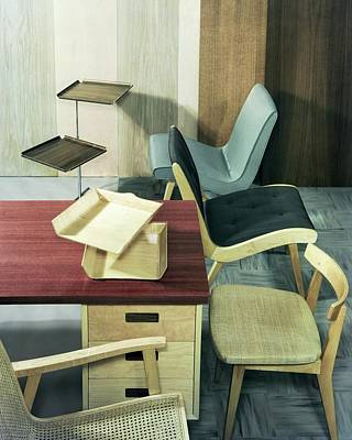 An Assortment Of Office Furniture Art Print by Wiliam Grigsby