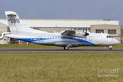 An Atr 42-600 Airliner At Turin Art Print