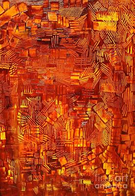 An Autumn Abstraction Art Print by Michael Kulick