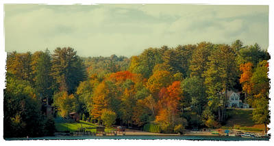 Northeast Digital Art - An Autumn Day On Lake George by David Patterson