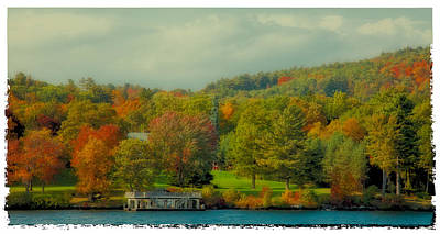 An Autumn Day On Lake George II Art Print by David Patterson