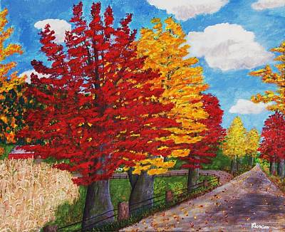 Painting - An Autumn Drive by Cynthia Morgan