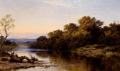 North Wales Digital Art - An Autumn Evening North Wales by Benjamin Williams Leader