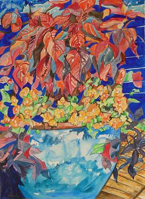 Painting - An Autumn Floral by Esther Newman-Cohen