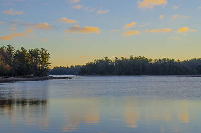 Arrow Head Photograph - An Autumn Morning On Arrow Head Lake by Bill Cannon