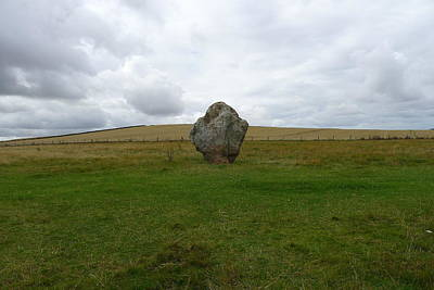Photograph - An Avebury Avenue Stone by Denise Mazzocco