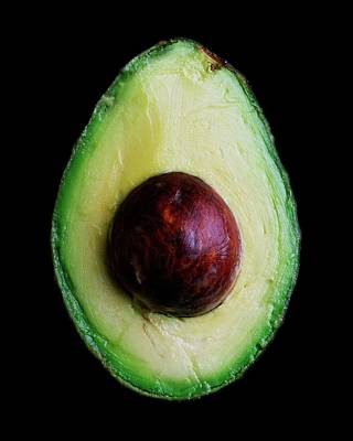 Cut Photograph - An Avocado by Romulo Yanes