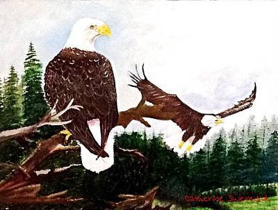 Painting - An Eagles View  by Catherine Swerediuk