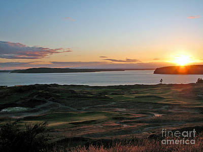 Photograph - An Early Summer Sunset - Chambers Bay Golf Course by Chris Anderson