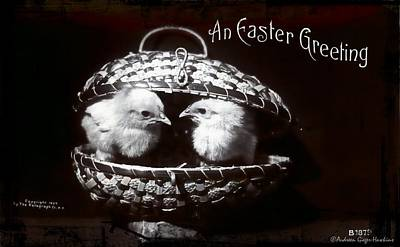 Photograph - An Easter Greeting 1908 Vintage Postcard by Audreen Gieger
