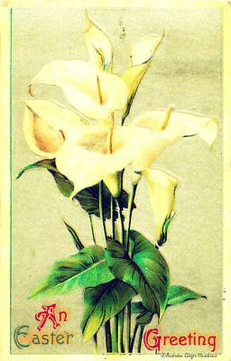 Photograph - An Easter Greeting 1912 Vintage Postcard by Audreen Gieger