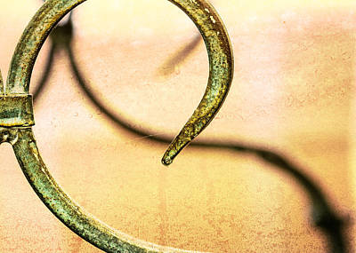 Patina Photograph - An Echoed Spiral by Jon Woodhams