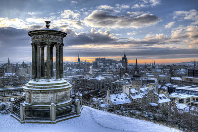 An Edinburgh Winter Art Print
