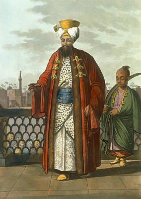 An Egyptian Bey Print by Luigi Mayer