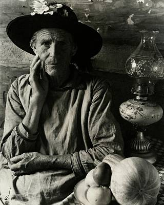 Oil Lamp Photograph - An Elderly Man by Louise Dahl-Wolfe
