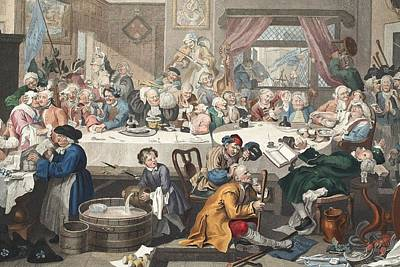 Drunken Drawing - An Election Entertainment, Illustration by William Hogarth