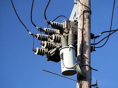 An Electricity Pole Art Print