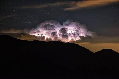 An Electrified Storm Cloud Looms Art Print